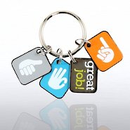 Simply Charming Key Chain - Great Job