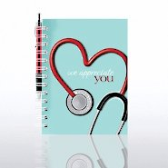 Journal & Pen Gift Set - Stethoscope: We Appreciate You