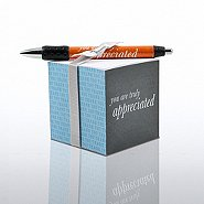Note Cube & Pen Gift Set - You are Truly Appreciated