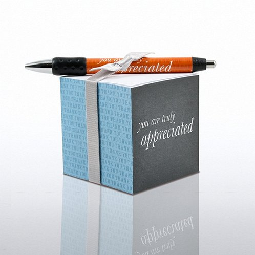 You are Truly Appreciated Note Cube & Pen Gift Set
