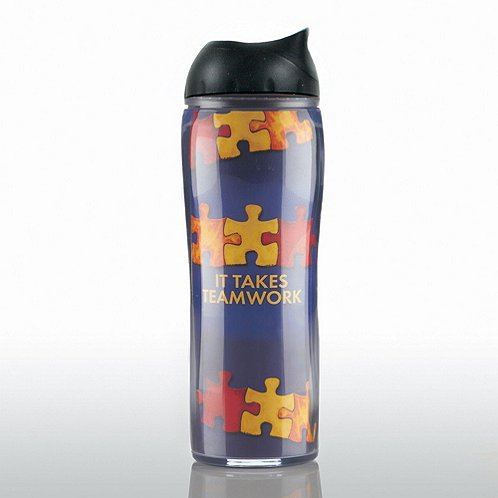 It Takes Teamwork Travel Mug