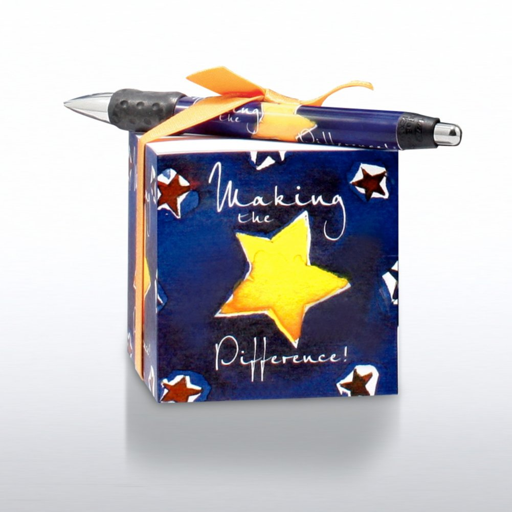 Note Cube and Pen Gift Set - Making the Difference