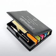 Flip Top Note Holder w/ Pen & Calendar - Truly Appreciated
