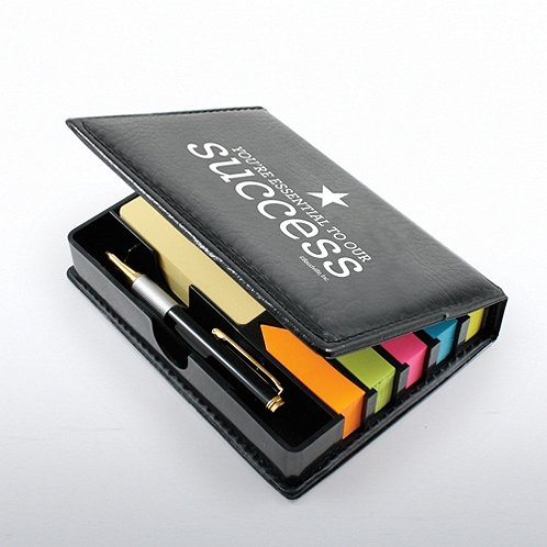 You're Essential to Our Success Flip Top Note Holder & Pen