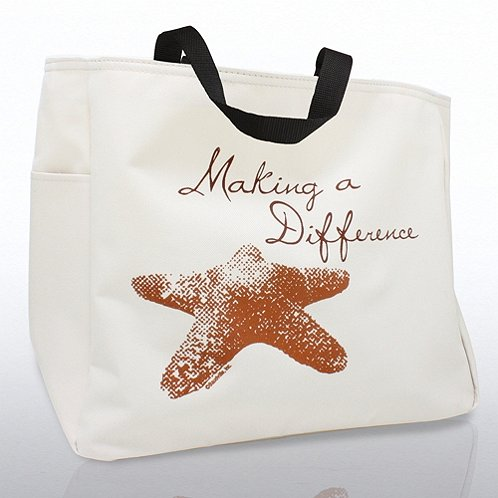 Starfish: Making a Difference Tote Bag