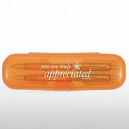 Pen & Pencil Gift Set - You are Truly Appreciated - Orange