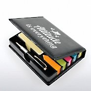 Flip Top Sticky Note Holder w/ Pen & Calendar - Fish: AIE