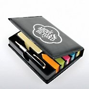 Flip Top Sticky Note Holder w/ Pen & Calend - Above & Beyond