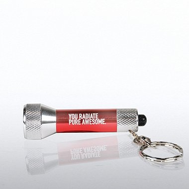LED Flashlight Key Chain - Exclamations