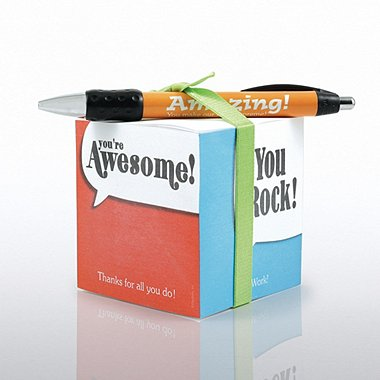 Note Cube & Pen Gift Set - Positive Praise