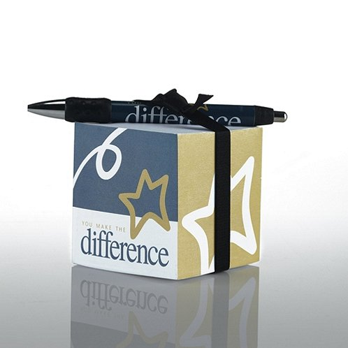You Make the Difference Note Cube & Pen Gift Set