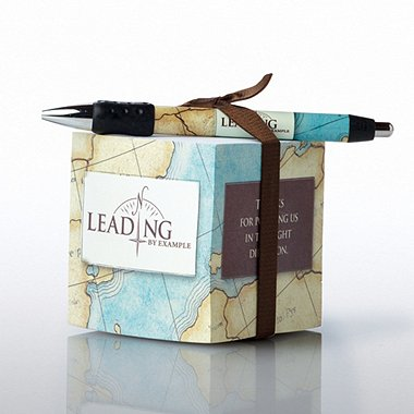 Note Cube & Pen Gift Set - Leading by Example
