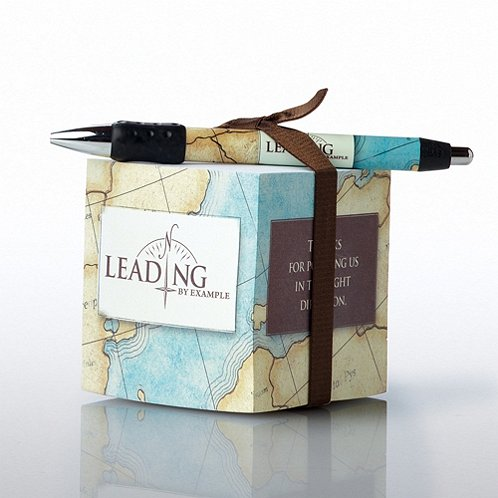 Leading by Example Note Cube & Pen Gift Set