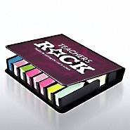 Flip Top Sticky Note Holder w/ Calendar - Teachers Rock