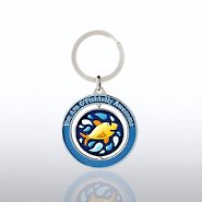Spinner Key Chain - Fish: Attitude is Everything