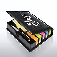 Flip Top Note Holder w/ Pen & Calendar - We Appreciate You