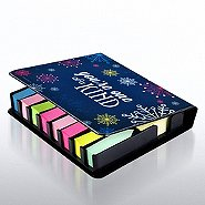 Flip Top Sticky Note Holder with Calendar - Snowflake