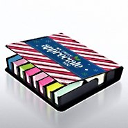 Flip Top Sticky Note Holder with Calendar - Candy Canes