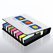 Flip Top Sticky Note Holder w/ Calendar - IBA