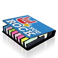 Flip Top Sticky Note Holder w/ Calendar - You Rock