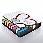 Flip Top Sticky Note Holder w/ Calendar - Stethoscope