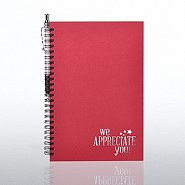Foil-Stamped Journal & Pen Gift Set - We Appreciate You Star
