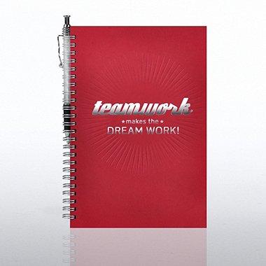 Foil-Stamped Journal & Pen Gift Set - Teamwork Dreamwork