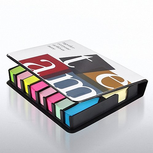 TEAM Flip Top Sticky Note Holder w/Calendar