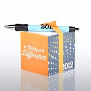 Note Cube & Pen Gift Set - 2012 Making a Difference