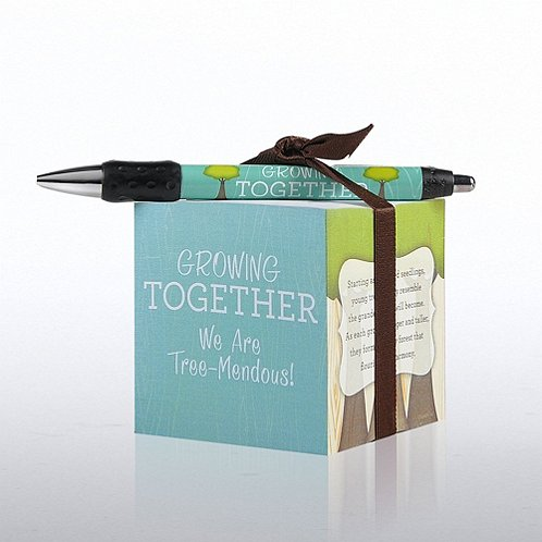 Growing Together Note Cube & Pen Gift Set