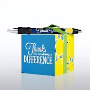 Note Cube & Pen Gift Set - Thanks for Making a Difference