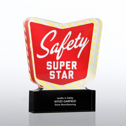 Safety Super Star Desktop Acrylic Trophy