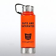 Silver Top Water Bottle - Serious About Safety