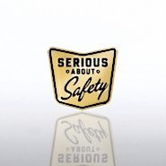 Lapel Pin - Serious About Safety