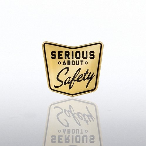 Serious About Safety Lapel Pin