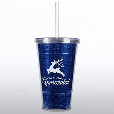 Twist Top Tumbler - Reindeer - You are Truly Appreciated