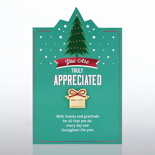 Tree/Present You Are Truly Appreciated Character Pin