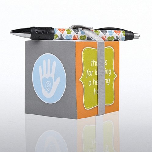 Helping Hand Note Cube & Pen Gift Set