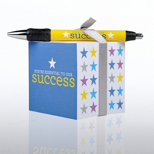 You're Essential to Our Success Note Cube & Pen Gift Set