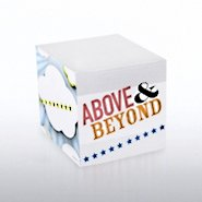 Adhesive Note Cube - Above & Beyond Theme