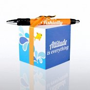 Note Cube & Pen Gift Set - AIE - Fish