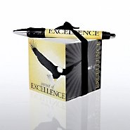 Note Cube & Pen Gift Set - Eagle: Pursuit of Excellence