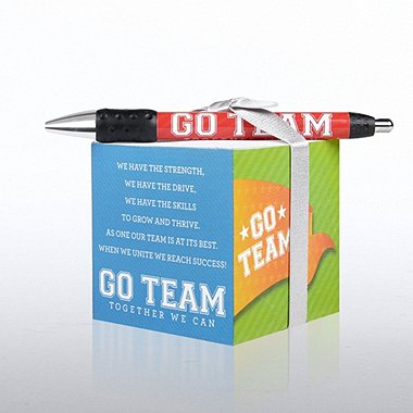 Note Cube & Pen Gift Set - Go Team
