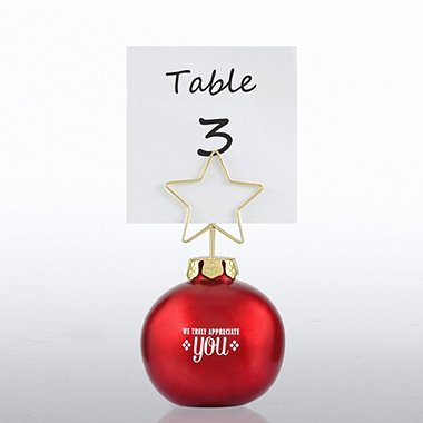 Ornament Memo Clip Holder - Red - We Truly Appreciate You