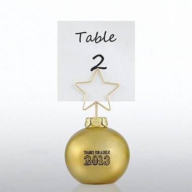 Ornament Memo Clip Holder - Gold - Thanks for a Great 2013