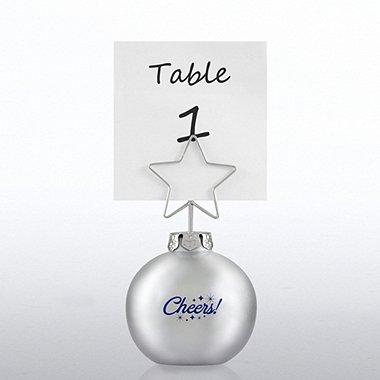Ornament Memo Clip Holder - Silver - Cheers