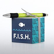 Note Cube & Pen Gift Set - F.I.S.H.