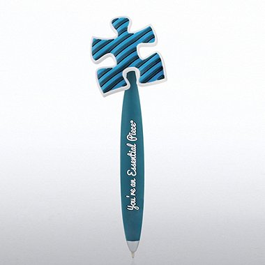 PVC Bobble Top Pen -  Essential Piece - Blue