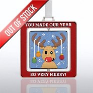 Spinner Ornament - Antlers: You Made Our Year So Merry