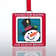 Spinner Ornament - Snowman: Thanks for Making Season Bright